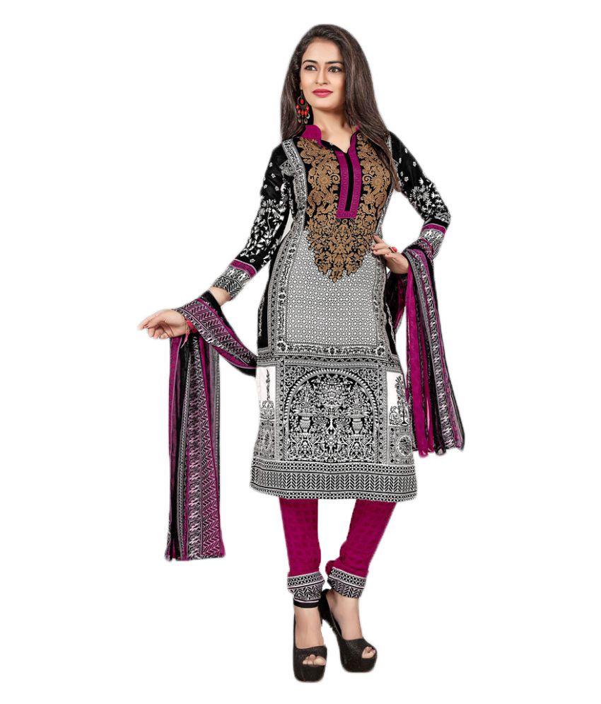 Khushali Multicoloured Crepe Dress Material