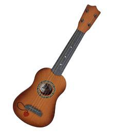 Latest Brown 4-String Acoustic Guitar Learning Kids Toy
