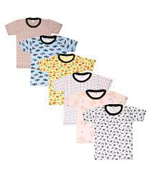 SR Kids Cotton Half Sleeves T-shirts Pack of 6