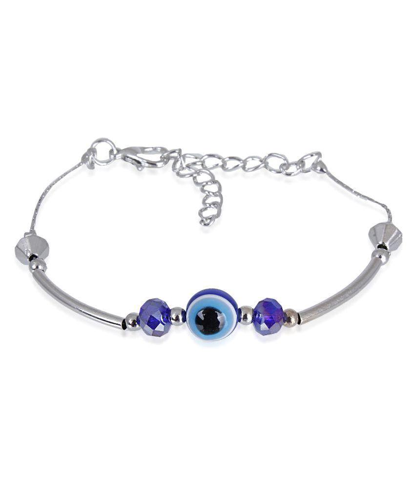 Fasherati Blue Alloy Bracelet