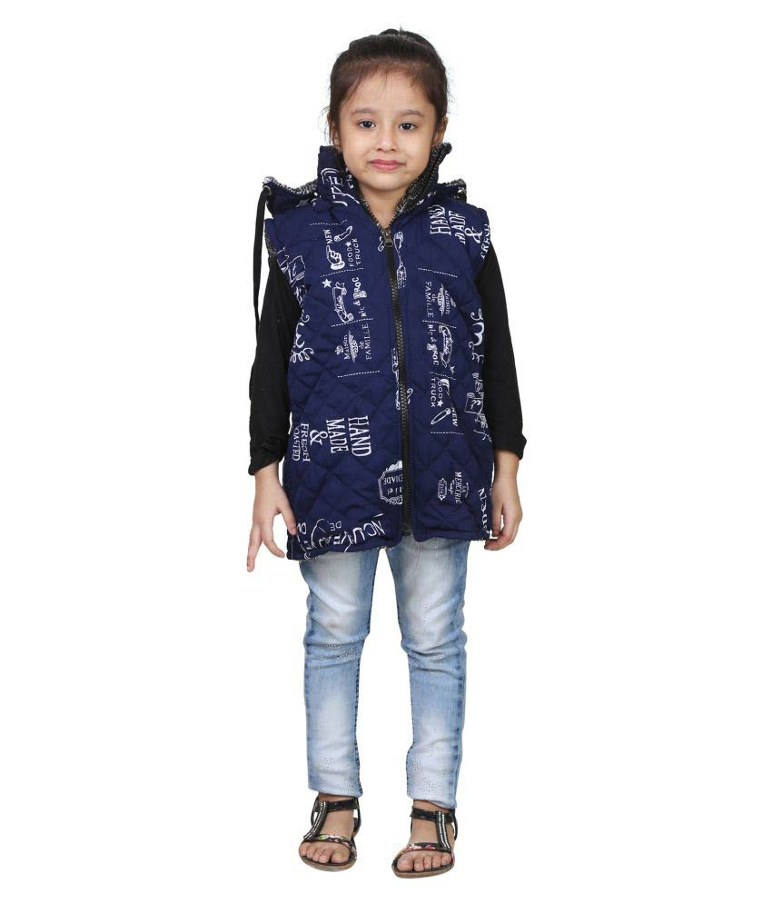 Crazeis Blue Jacket For Girls