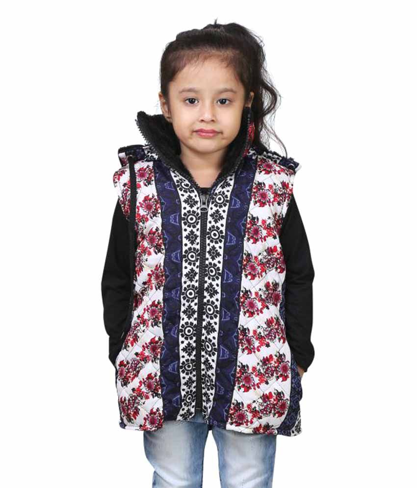 Crazeis Sleeveless Jacket for Girls