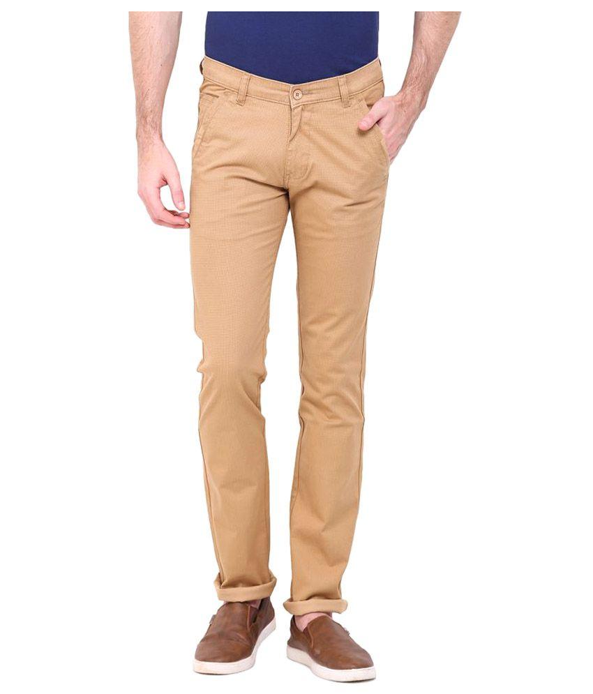 Duke Khaki Regular Flat Trouser