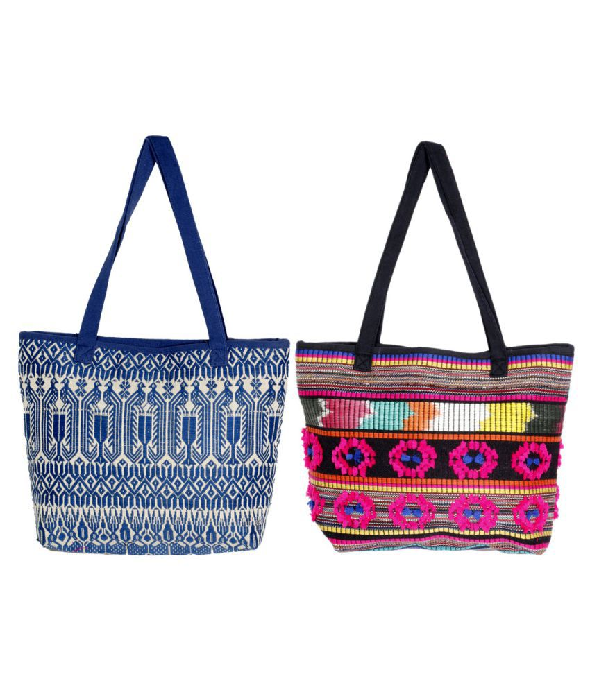 Indiweaves Multi Canvas Shoulder Bag