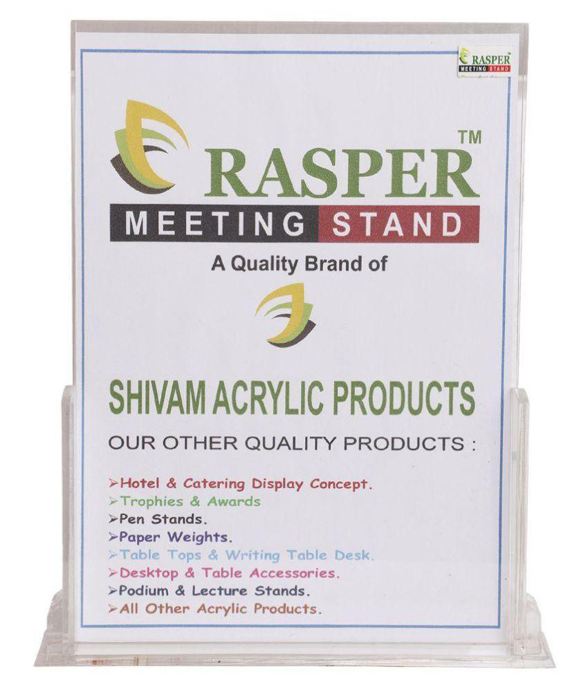 9766f8d6c847 Rasper A4 Acrylic Display Stand Sign & Menu Card Holder: Buy Online ...