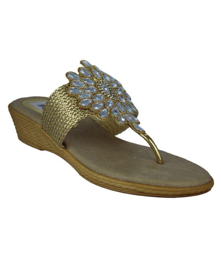 Faith Gold Wedges Heels