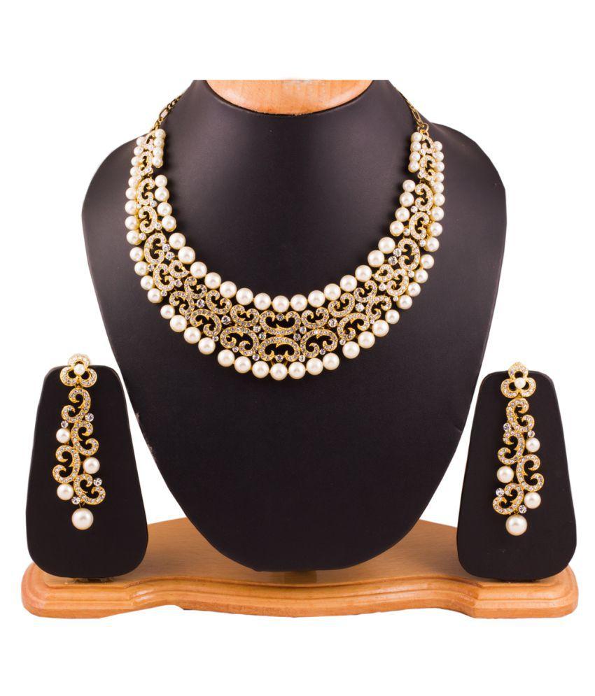 Grace Jewels Golden Alloy Necklaces Set
