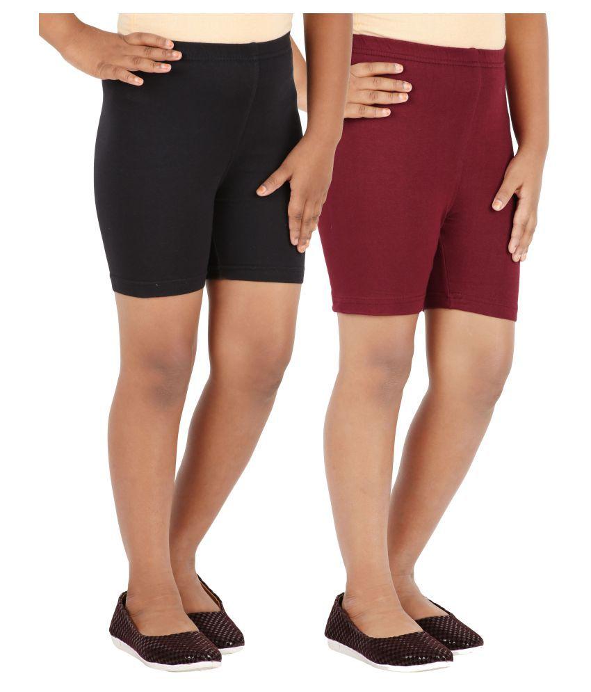 Lula Girls Spandex Shorts -Pack of 2 (CB01020216229112)
