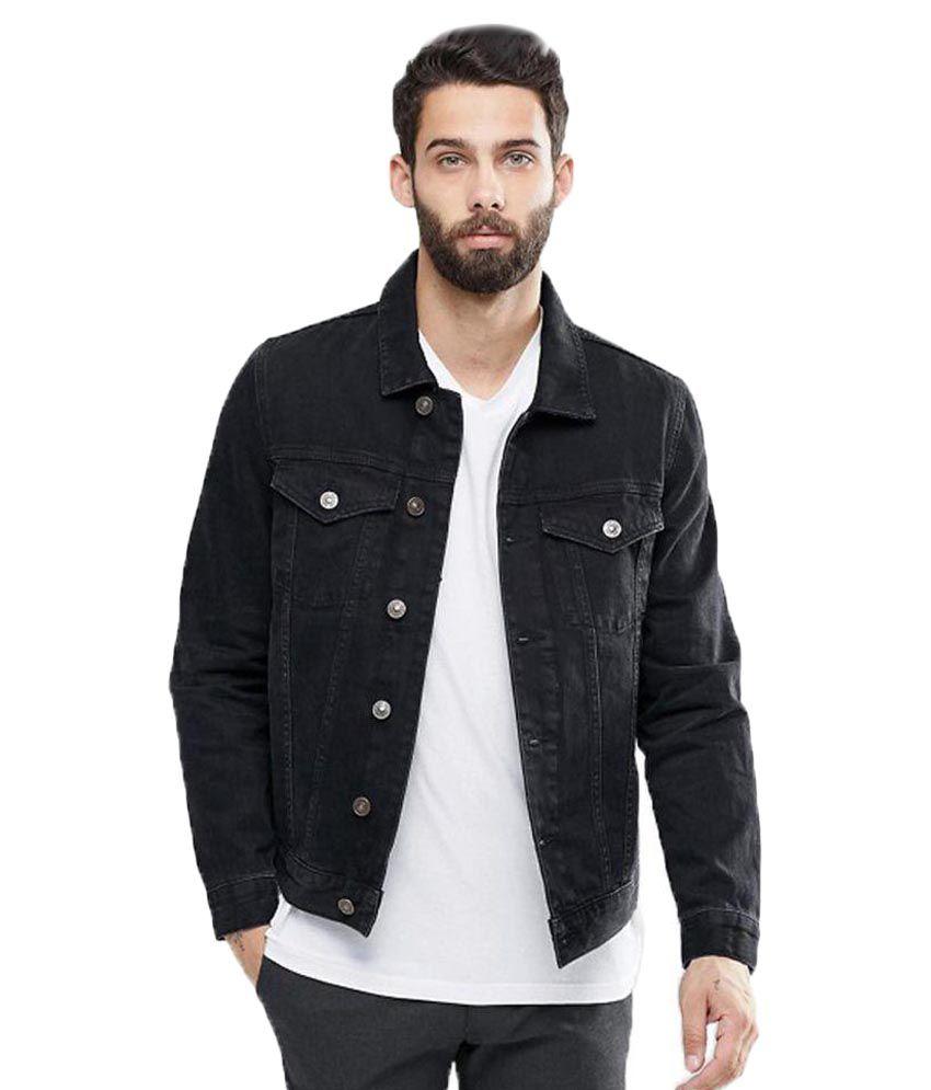 Kotty Black Denim Jacket Buy Kotty Black Denim Jacket Online At