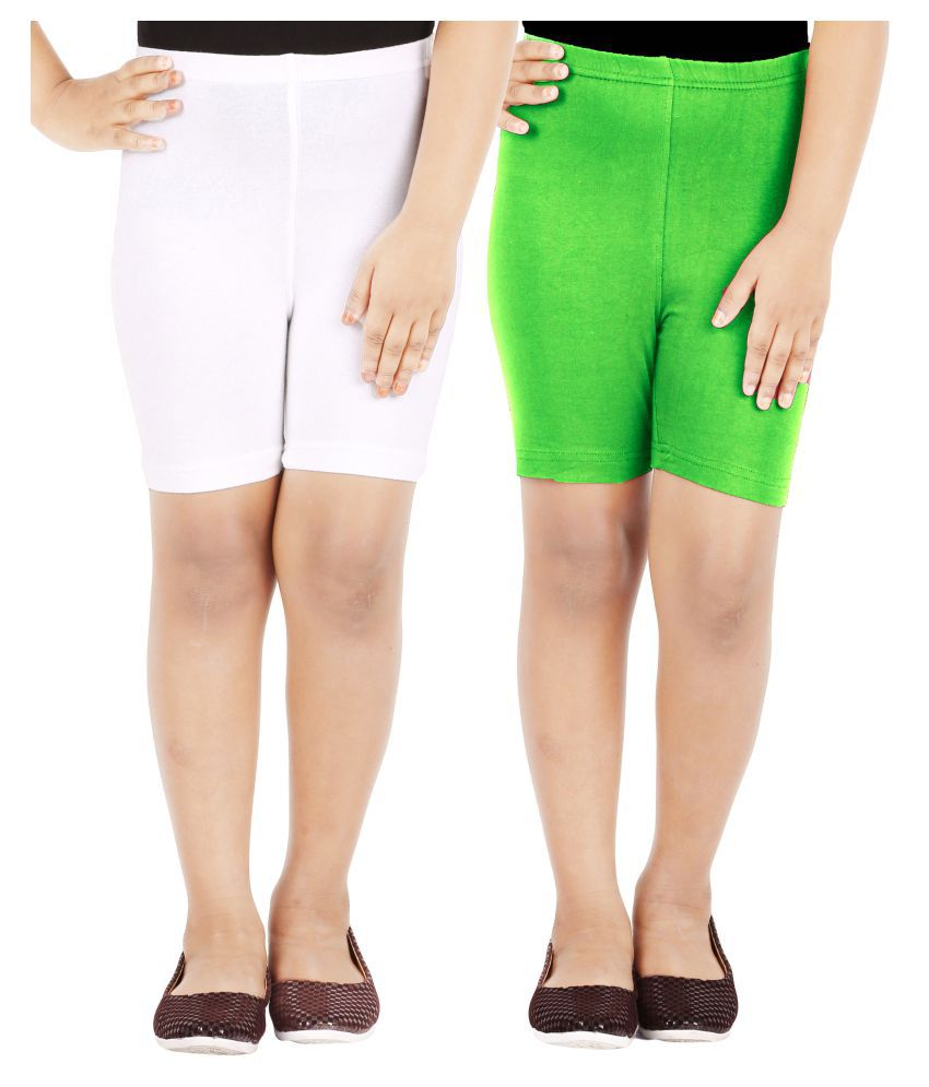 LULA Multicolor Cycling Shorts - Pack of 2