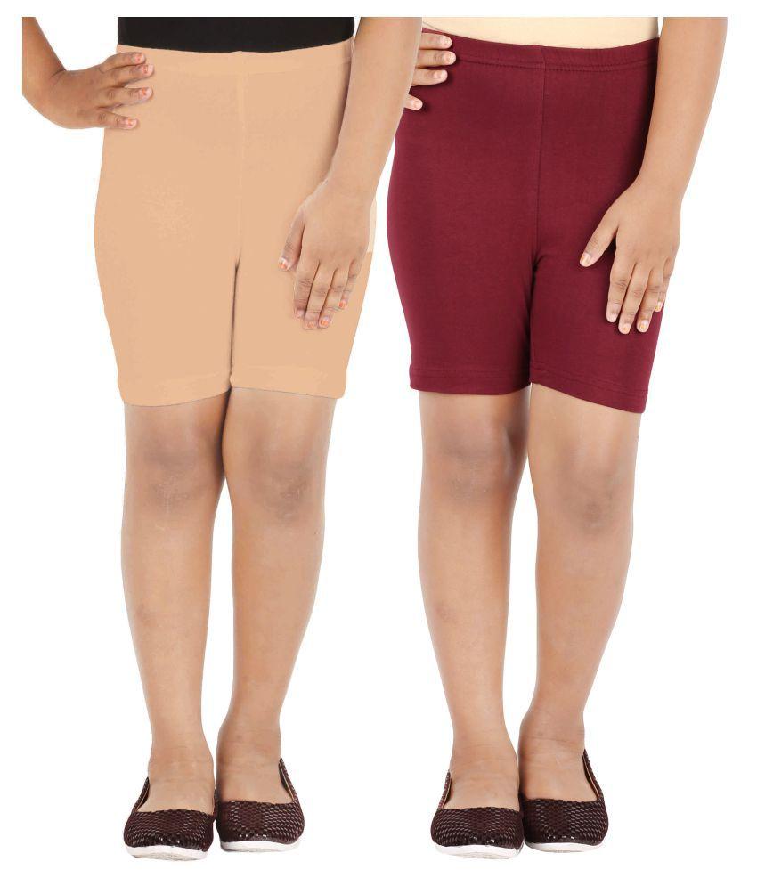 Lula Girls Spandex Shorts -Pack of 2 (CB01020216232410)