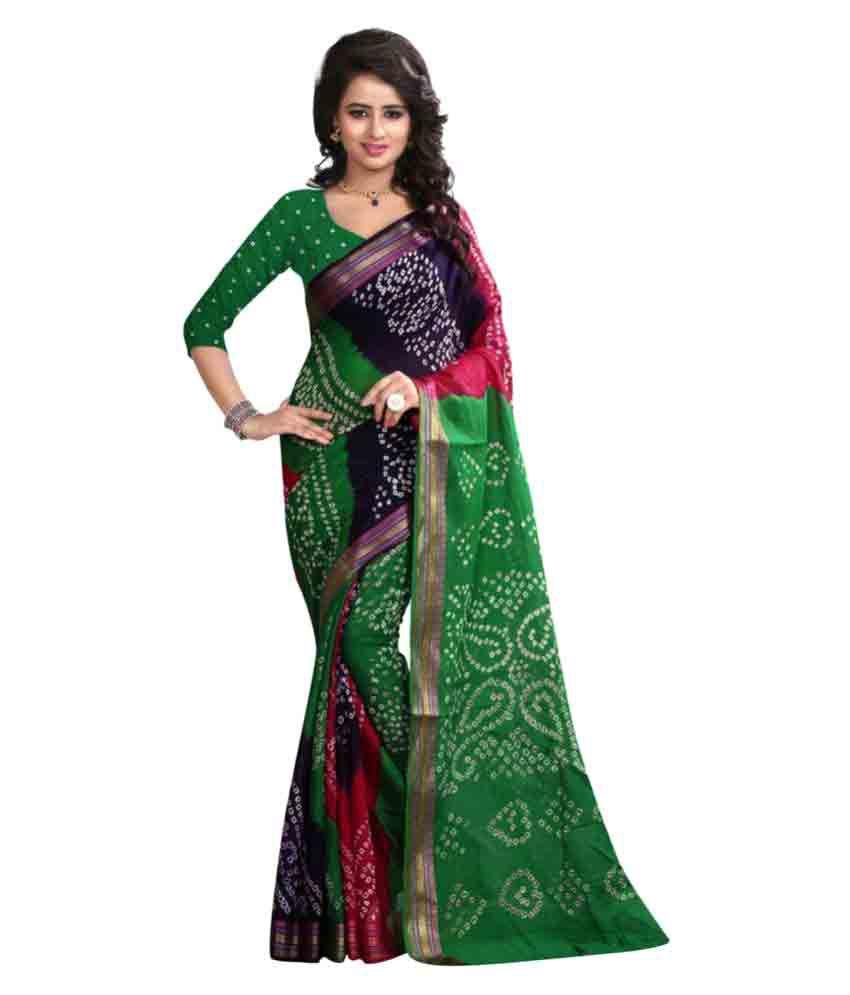 Rozdeal Multicoloured Cotton Silk Saree