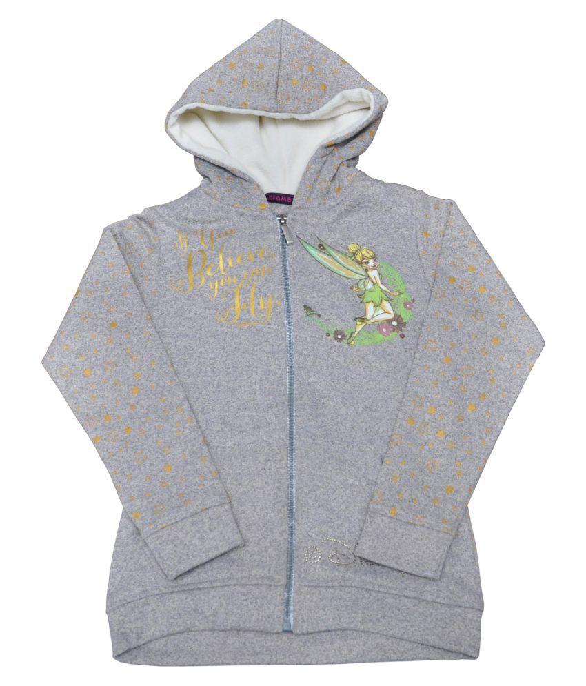 Ziama Gray Fleece Sweatshirts For Girls