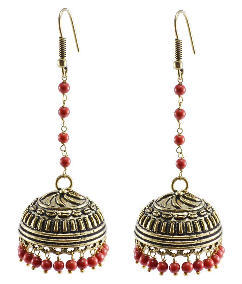 Silvesto India Silver Brass Jhumki