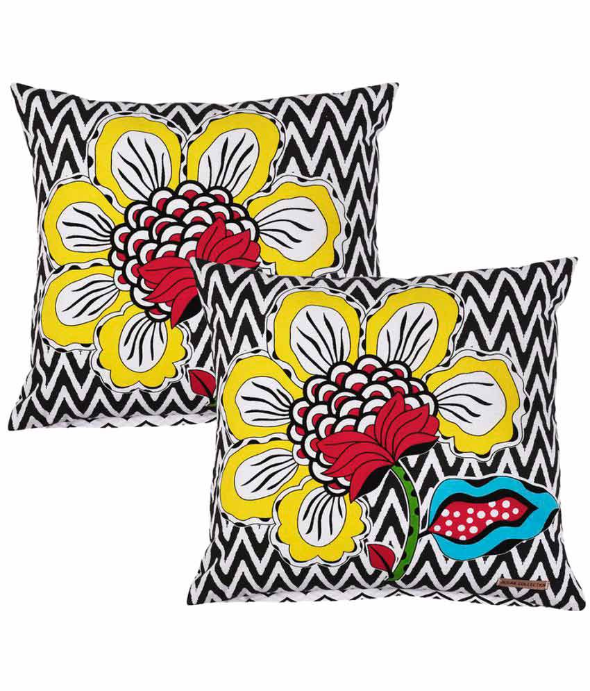 Ocean Collections Set of 2 Cotton Cushion Covers