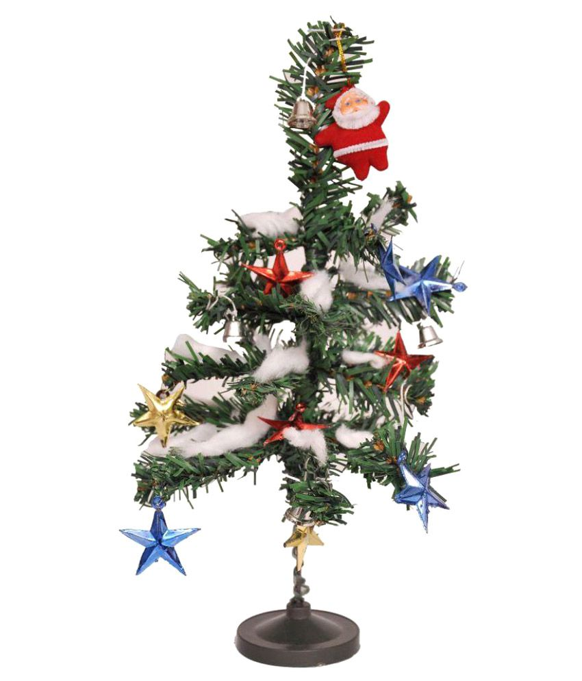 """Indigo Creatives 12"""" Christmas Table Top Tree with 14 Decorations Gift Hamper-51% OFF"""