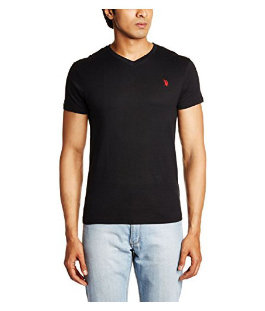 U.S. Polo Assn. Black V-Neck T-Shirt