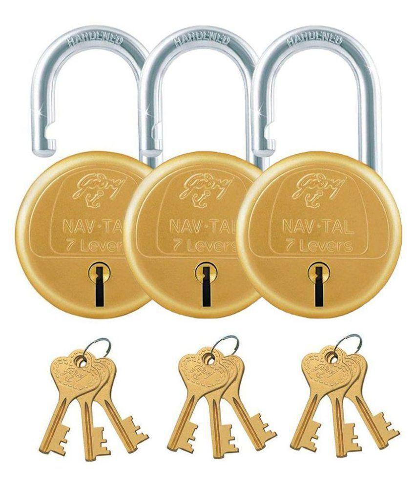 Buy Godrej Key Lock Navtal 7 Lever Pack Of 3 Online At