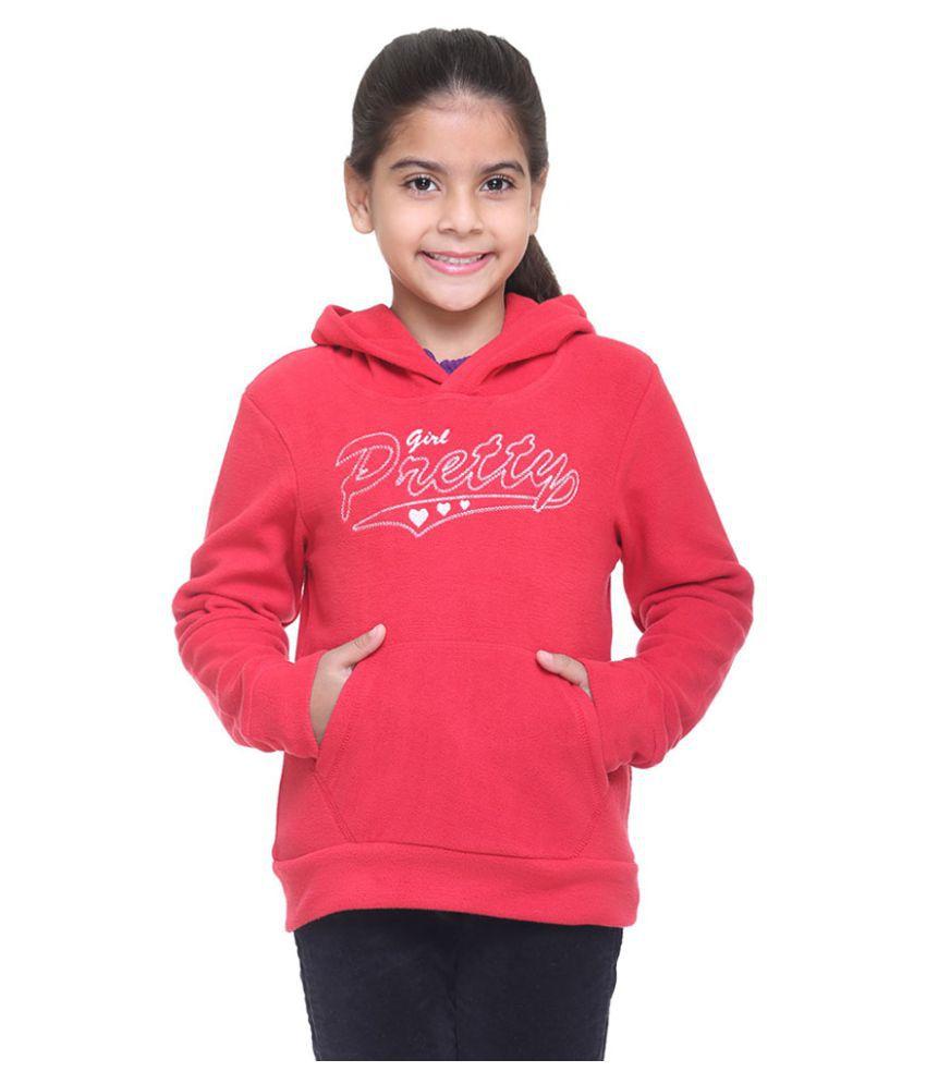 Kids-17 Red Fleece Sweatshirt