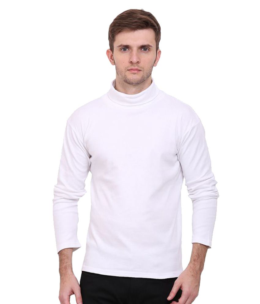 9fe4cc6d8a14 Le Bourgeois White High Neck T-Shirt - Buy Le Bourgeois White High Neck T-Shirt  Online at Low Price - Snapdeal.com