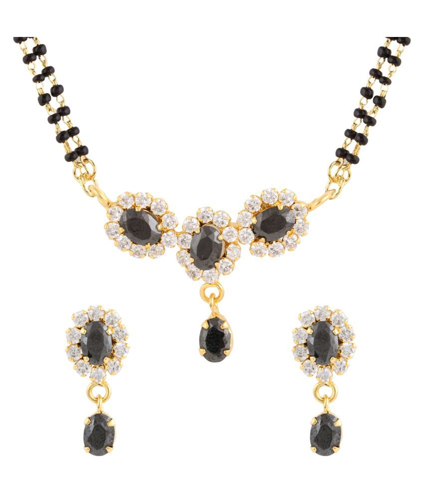 Parinaaz Black Mangalsutra Set