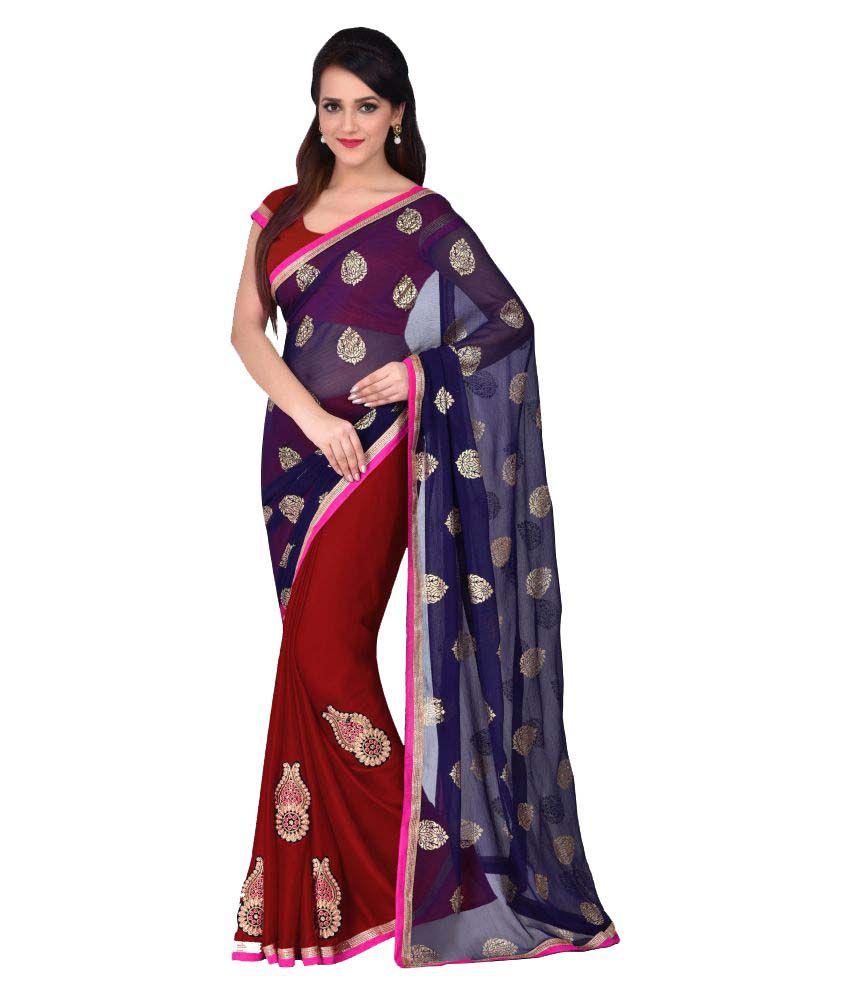 Shonaya Multicoloured Chiffon Saree