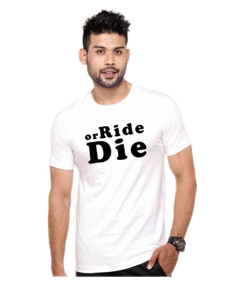Wild Thunder White Round T-Shirt