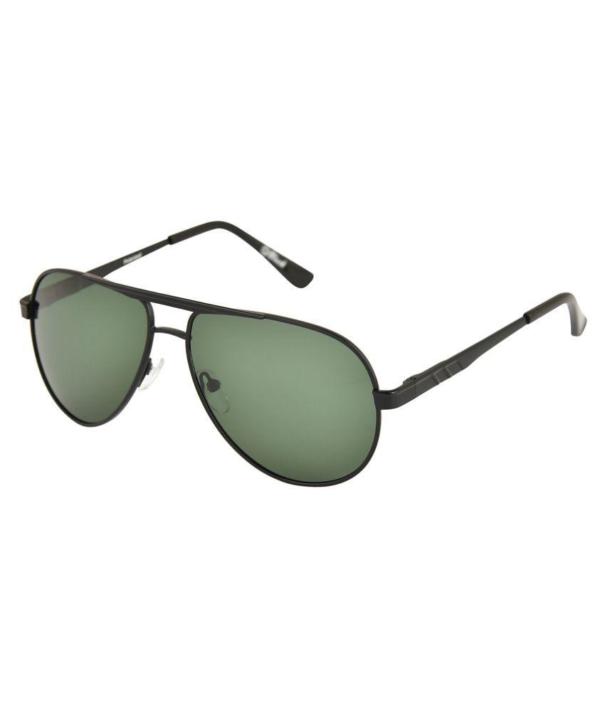 Black Green Aviator Sunglasses ( BL_1024 )
