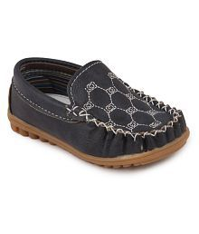 N Five Blue Flat Casual Mocassins For Boys