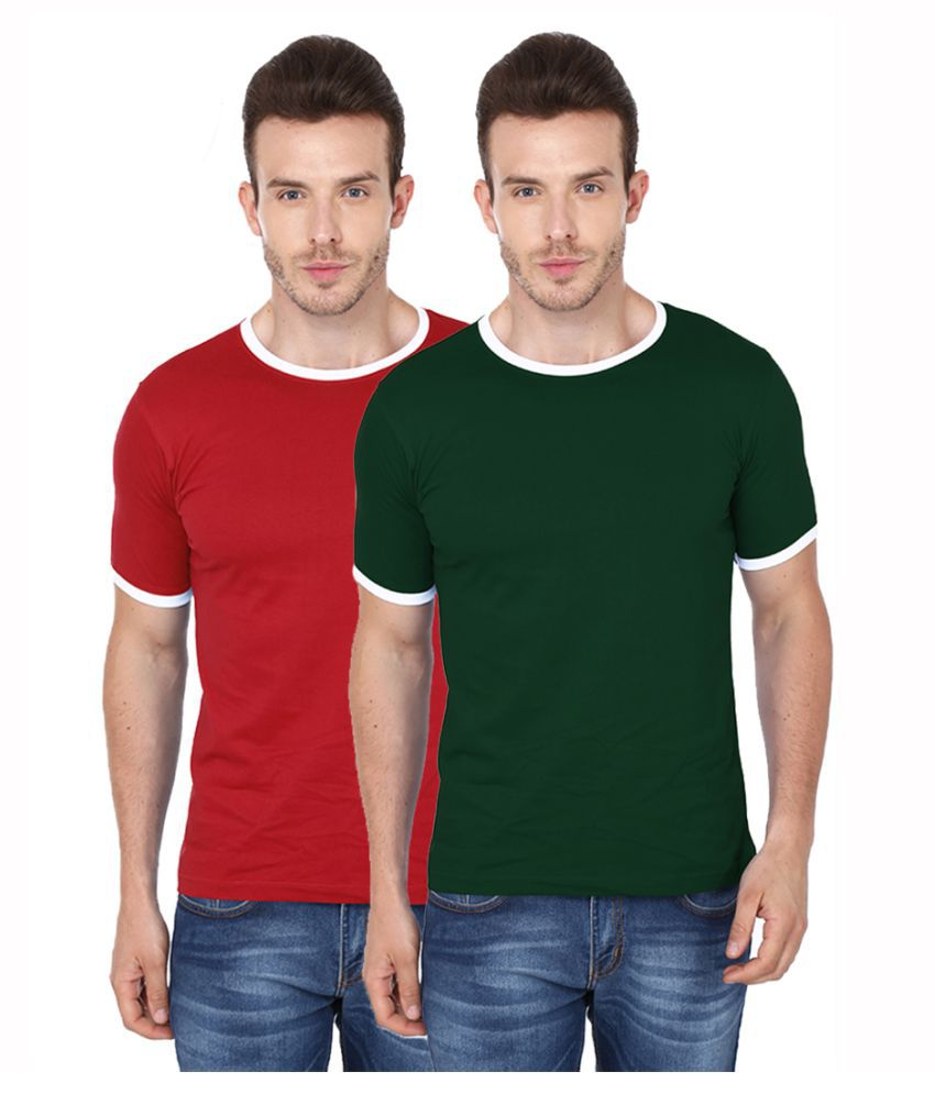 99tshirts Multi Round T-Shirt Pack of 2