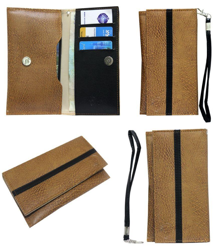 Panasonic Eluga I2 Holster Cover by Jojo - Brown