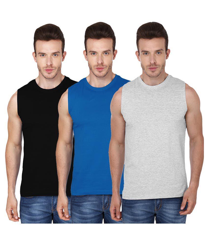 99tshirts Multi Round T-Shirt Pack of 3