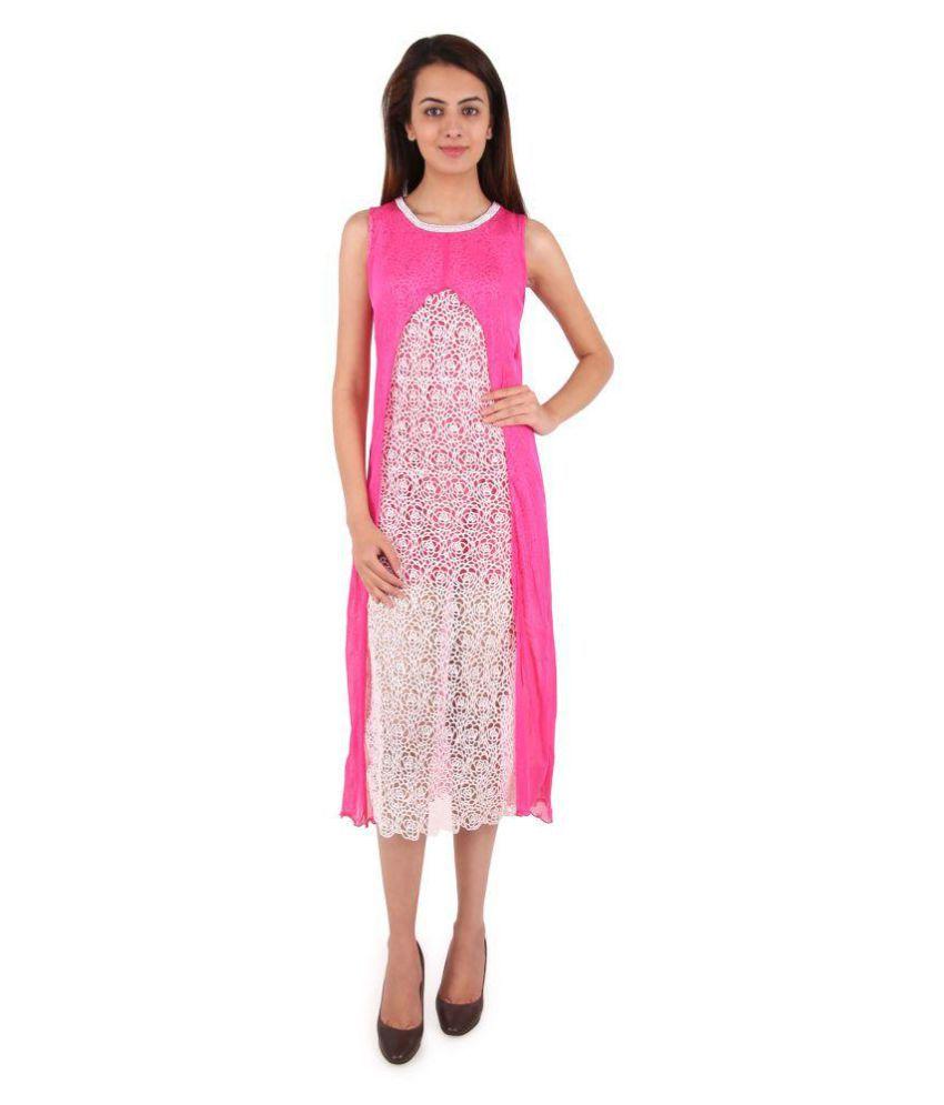 Western World Fashion Chiffon Multi Color Bodycon Dress