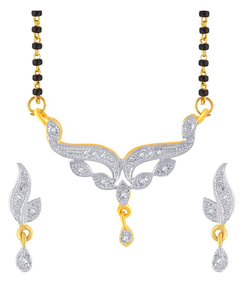 Kashvi Multicolour Brass Mangalsutra Set