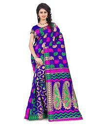London Beauty Purple Banarasi Silk Saree