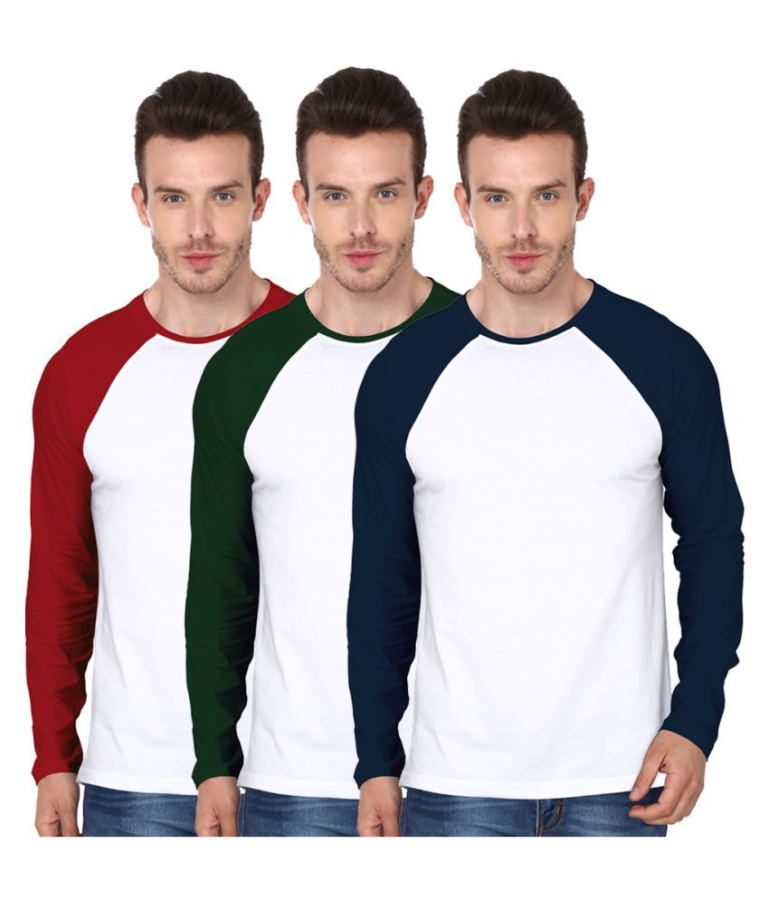 99Tshirts Multi Round T-Shirt Pack of 3