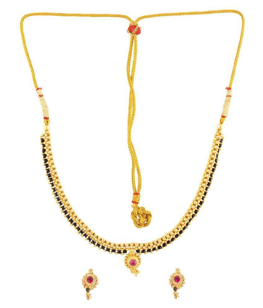 Womens Trendz Golden Mangalsutra Set