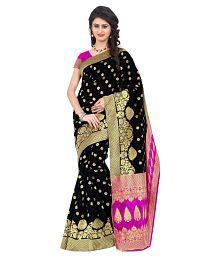 London Beauty Black Banarasi Silk Saree