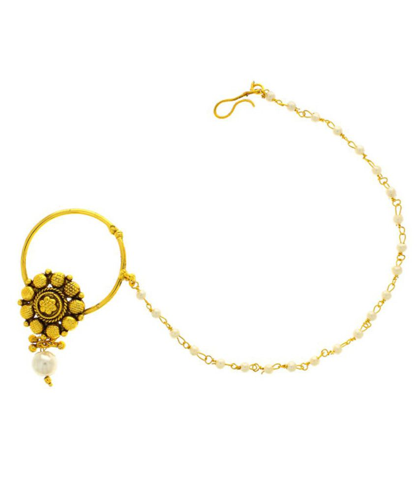 Anuradha Gold Plated Alloy Nosering