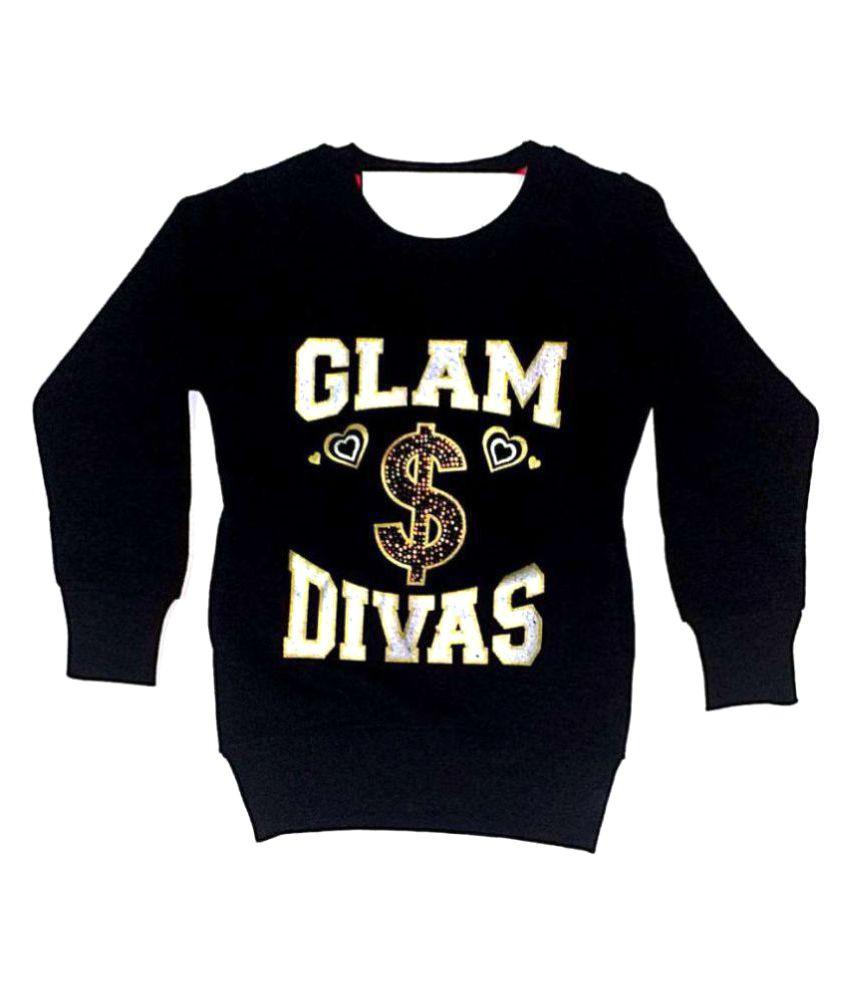 Cuddlezz Black Crew Neck Sweatshirt