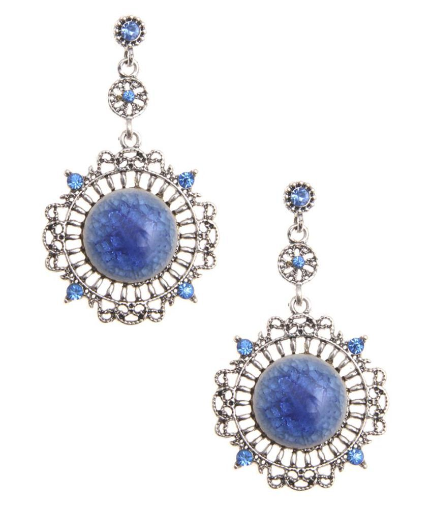 Jewelizer Multicolour Alloy Drop Earrings