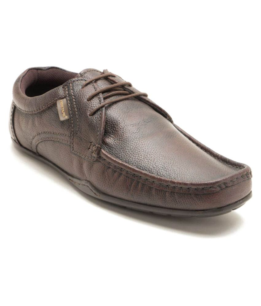 brown office genuine leather formal shoes price
