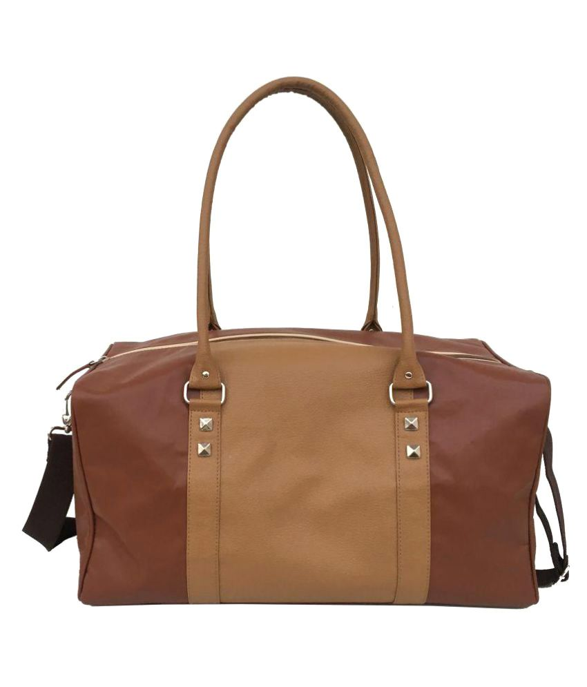 3 Mad Chicks Brown Medium P.U. Gym Bag