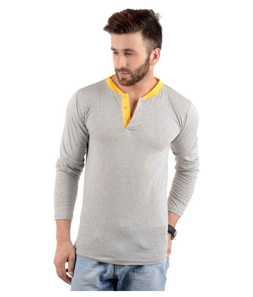 Kay Dee Creations Grey Henley T-Shirt