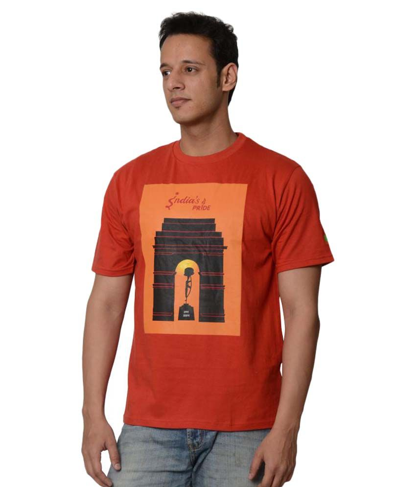 My Indian Dream Red Round T-Shirt
