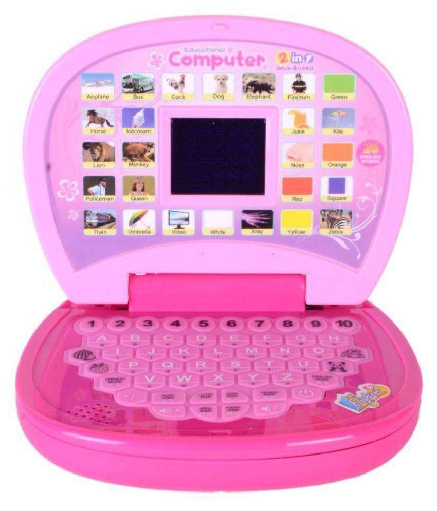 A R Enterprises English Learning Laptop For Kids (Pink ...