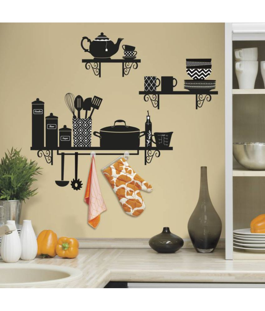 Asian Paints Build A Kitchen Shelf Giant Vinyl Wall Stickers Buy Asian Paints Build A Kitchen