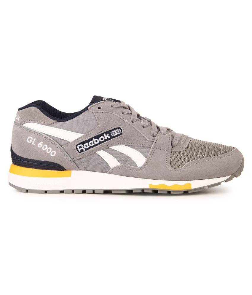 bbfb53f7d322 Reebok GL 6000 PP Gray Running Shoes - Buy Reebok GL 6000 PP Gray ...