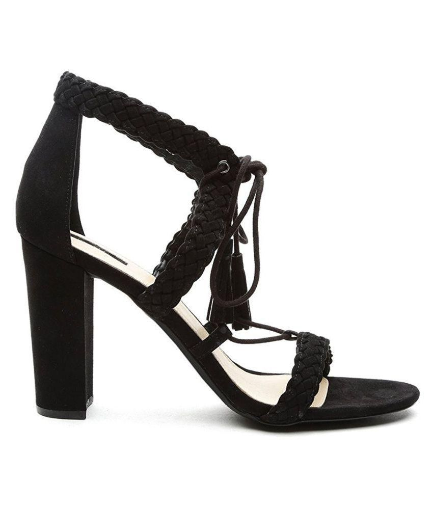 a5e8329feb2 Forever 21 Black Heels Price in India- Buy Forever 21 Black Heels ...