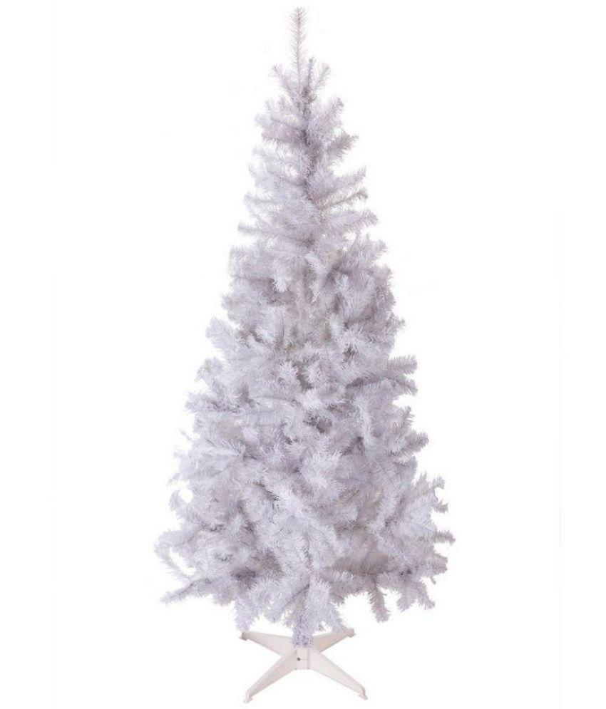 skycandle plastic christmas tree white - White Fake Christmas Tree